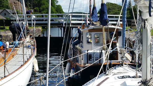 Busy Crinan Canal